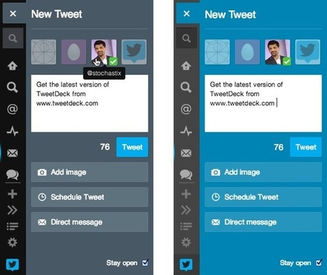Tweetdeck tweaks the UI new docked tweet panel | Technology | Scoop.it