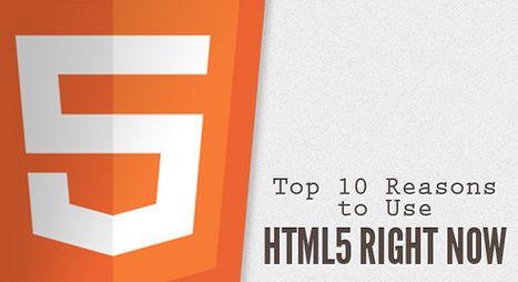 Top 10 Reasons to Use HTML5 Right Now | Codrops | Web mobile - UI Design - Html5-CSS3 | Scoop.it