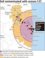 """Une concentration de Cs-137 estimée à """"plus de"""" 3 Millions de Becquerel / m2 à 30 Km du site de Fukushima Daiichi   gen4   Japon : séisme, tsunami & conséquences   Scoop.it"""