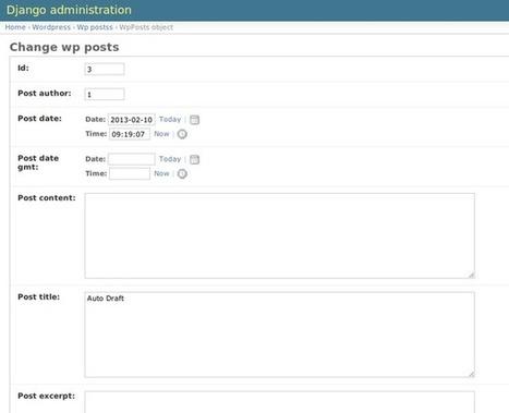 Administer WordPress using Django's Admin - Ian Lewis | Python-es | Scoop.it