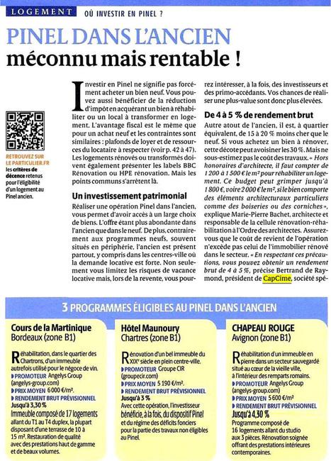 Pinel dans l'ancien - presse, Le Particuler | Actu investissement immobilier | Scoop.it