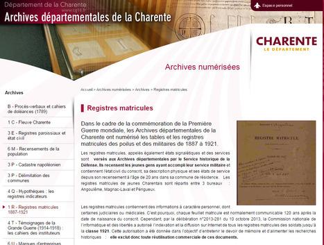 GénéInfos: Les registres matricules de Charente sont en ligne ! | Nos Racines | Scoop.it