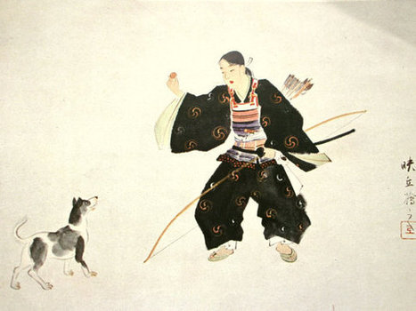 Japanese Print Vintage Magazine Cut Out Person in Ancient Literature Painting by Matsuoka Eikyu 1881 -1938   Etsy Today   Scoop.it