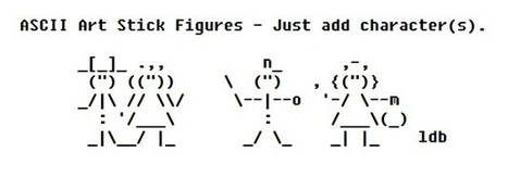 ASCII Art Stick Figures | ASCII Artist | ASCII Art | Scoop.it