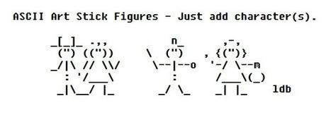 ASCII Art Stick Figures | ASCII Artist | ASCII Art | Scoop.it