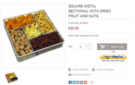 Square Metal Sectional with Dried Fruit and Nuts | Buy Rosh Hashanah fruits | Scoop.it
