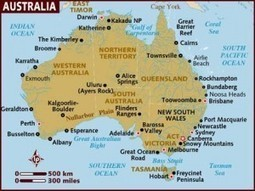 ESL Lesson: Around Australia Map (Cardinal points & prepositions to describe location on a map) - Australian Curriculum Lessons | PP phonics | Scoop.it