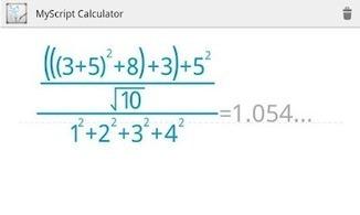 MyScript Calculator: Une calculatrice très intelligente pour Android | maths | Scoop.it