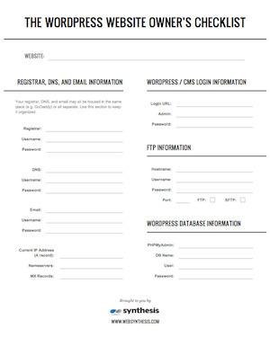 The WordPress Website Owner's Emergency Checklist | Copyblogger | duynsteepolak | Scoop.it