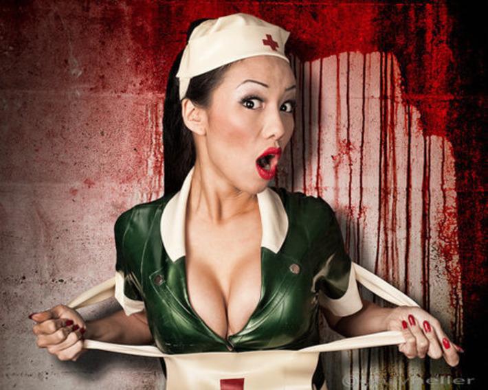 Nurse Vixen 1265  8x10 sexy nurse fetish photography by garyheller   Let's Get Sex Positive   Scoop.it