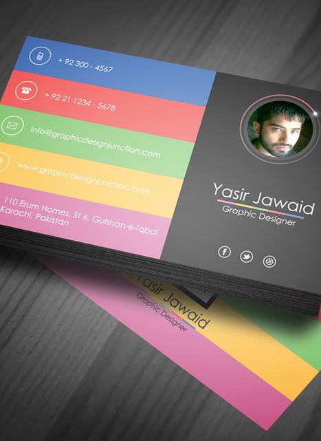 Free Modern Business Card Mockup (PSD) | Freebies | Graphic Design Junction | freebies | Scoop.it
