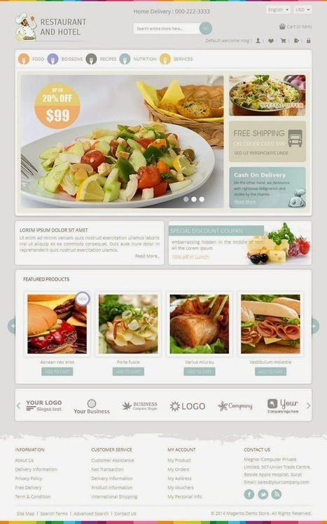 Responsive Magento Theme For Restaurant, Hotel, Food or Grocery Stores - Download! New Themes and Templates   Content Marketing & E-Commerce for Hotels   Scoop.it