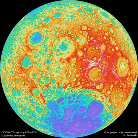 High Resolution Global Topographic Map of Moon | CEREGeo - Geomática | Scoop.it