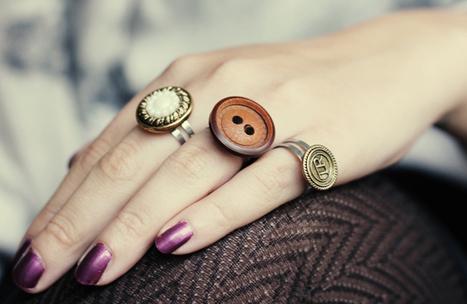 Lana Red: Button Rings DIY | DIY - jewellery  =  HTM - bijou | Scoop.it