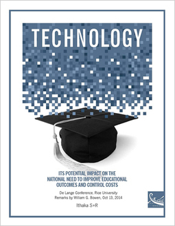 Technology: Its Potential Impact on the National Need to Improve Educational Outcomes and Control Costs | Ithaka S+R | Teaching & Learning in Higher Education | Scoop.it