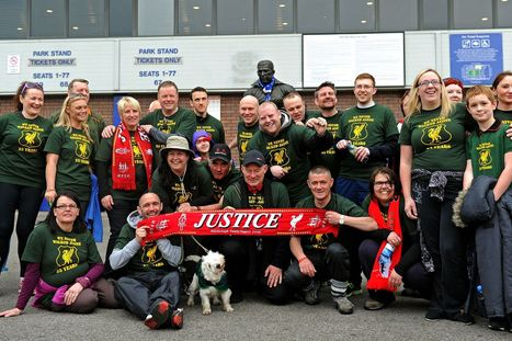 Hillsborough families, survivors and supporters take part in 96 mile trek | Survivors and Heros | Scoop.it
