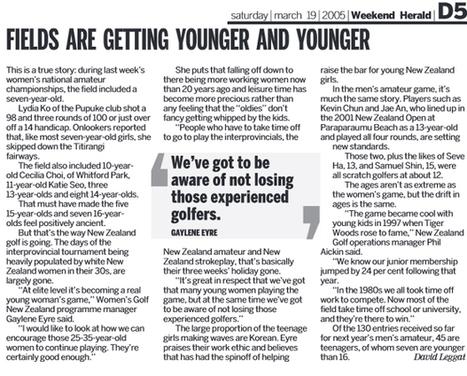 The Vault: First mention - Lydia Ko - Sport - NZ Herald News   Performance improvement   Scoop.it