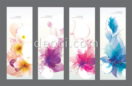 4 fashion fresh flowers colorful vector X banner background template design material Adobe AI vector file for free download   Blogging Tools   Scoop.it