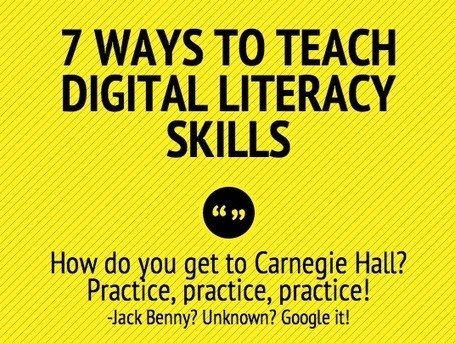 7 ways to teach digital literacy skills – iPads in Education | Linking Literacy & Learning: Research, Reflection, and Practice | Scoop.it
