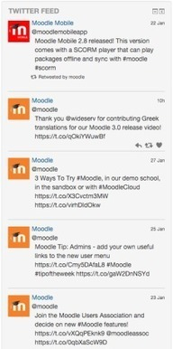 Add #Twitter feeds to your Moodle course by Twitter Feed Block #MoodlePlugins - Moodle World | Educación a Distancia y TIC | Scoop.it