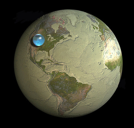 If All of Earth's Water was put into Single Sphere | Geography Education | Scoop.it