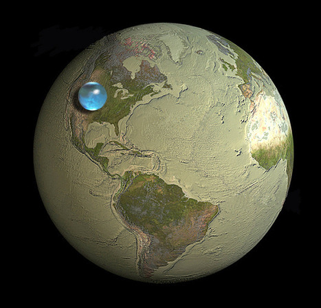 If All of Earth's Water was put into Single Sphere | JWK Geography | Scoop.it