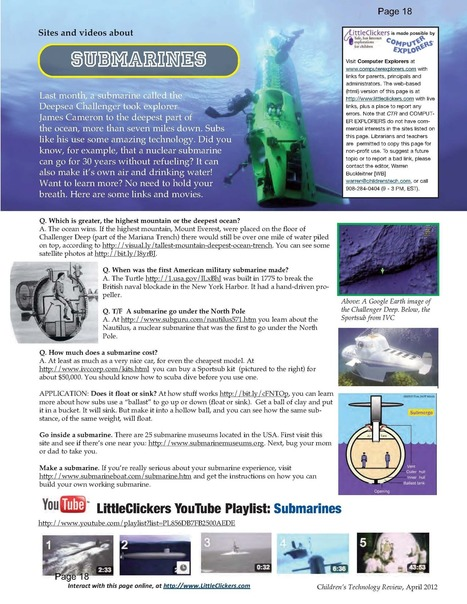 Little Clickers - Submarines - COMPUTER EXPLORERS | PreSchool Education and Technology | Scoop.it