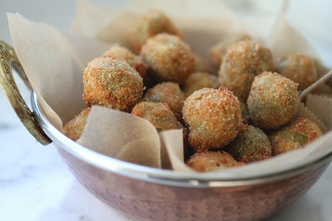 """Olive All'Ascolana"" go International and acquire tasty variations: Spicy Cheese-Stuffed Fried Olives 