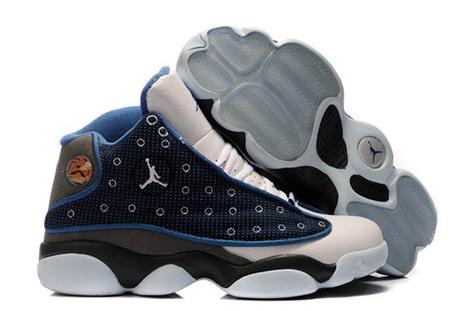 Nike Jordan XIII Retro Suede Grey/Blue/Black - White Flint Basketball Sneaker | new and share style | Scoop.it
