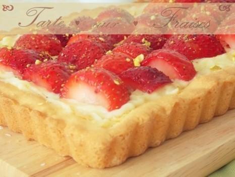 Tarte aux fraises avec crême patissière | Fraise | Scoop.it