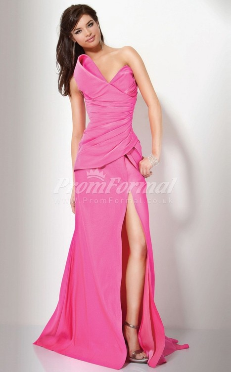 Charming Satin Strapless A-line Sweep Train Evening Dress(PRJT04-0562) - promformal.co.uk | Prom & Formal | Scoop.it