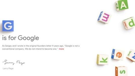 Google Announces 'Alphabet,' Its New Parent Company | The tech sector | Scoop.it