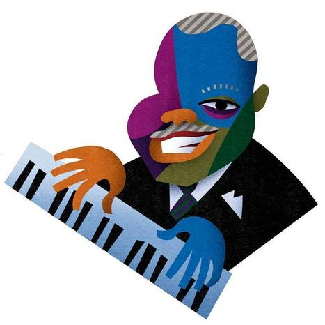 David Cowles Illustrations - Oscar Peterson | Jazz Plus | Scoop.it