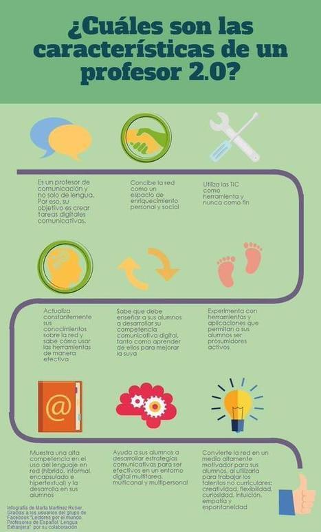 Infografía: ¿Cuáles son las características de un profesor 2.0? | Con visión pedagógica: Recursos para el profesorado. | Scoop.it