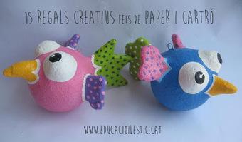 15 regals creatius fets de paper i cartró | Posts d'Educació i les TIC | Scoop.it