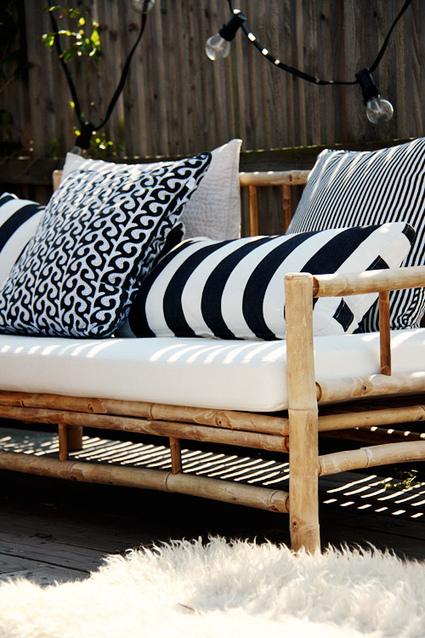 Coup de ♥ déco | Une terrasse scandinave en Noir & Blanc | décoration & déco | Scoop.it