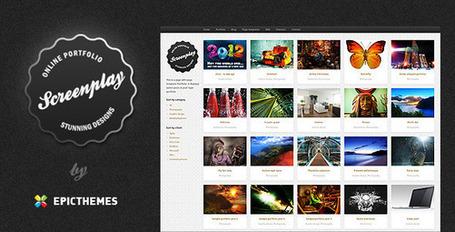 Screenplay - Slick, minimal portfolio theme (Portfolio)   Premium Wordpress Themes   Scoop.it