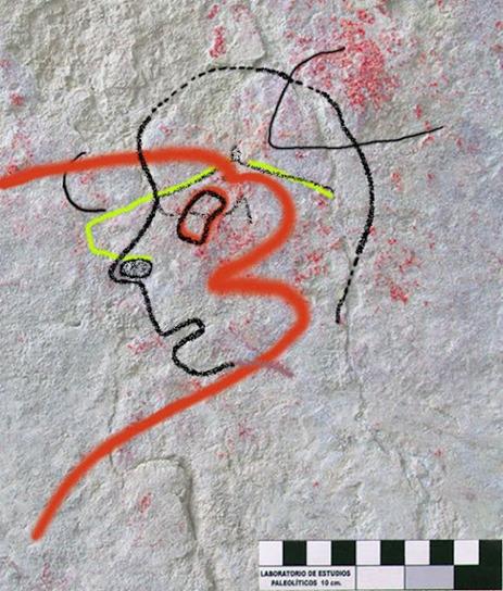 Descubierto en Almería el primer retrato de la humanidad. Arte rupestre.Solutrense | Aux origines | Scoop.it