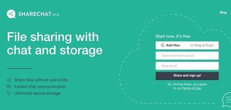 ShareChat. Partage de fichiers et discussions en groupe - Les Outils Collaboratifs | Les outils du Web 2.0 | Scoop.it