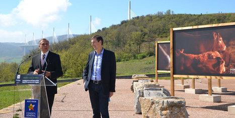 Le veau d'Aveyron à l'aire du Viaduc de Millau, vitrine de l'attractivité aveyronnaise | L'info tourisme en Aveyron | Scoop.it