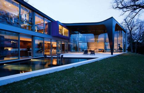 Influences esthétiques africaines pour cette magnifique villa contemporaine suisse   Construire Tendance   Scoop.it