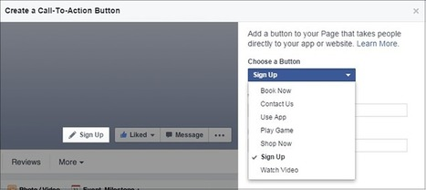 How to Add New Call-to-Action Buttons to Your Business Facebook Page   Local Search News For APM Dentists   Scoop.it