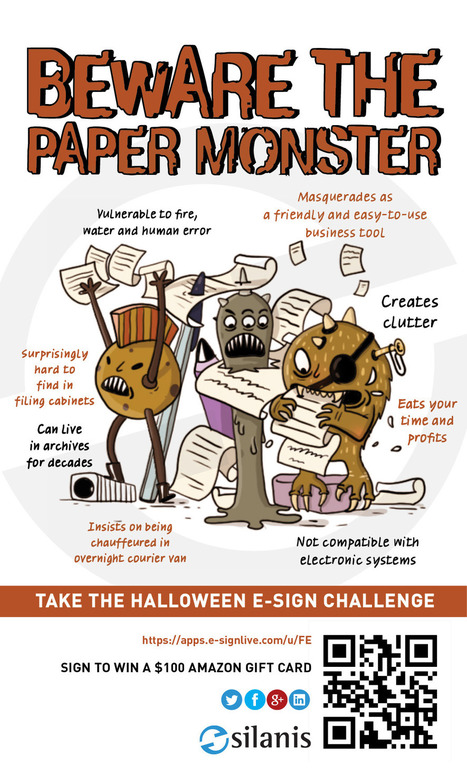 Banish Paper Monsters – Take the Halloween E-Sign Challenge   E-Signatures   Scoop.it