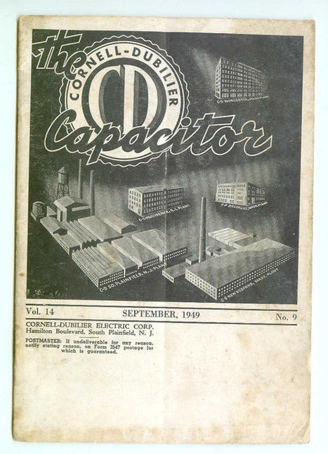 Vintage Cornell-Dubilier Electric Corp CD The Capacitor Magazine Sept 1949 Advertising Collectible | Antiques & Vintage Collectibles | Scoop.it
