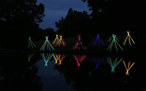 Bruce Monro's Fluorescent Light Tube Tepees | C'est la vie! | Scoop.it