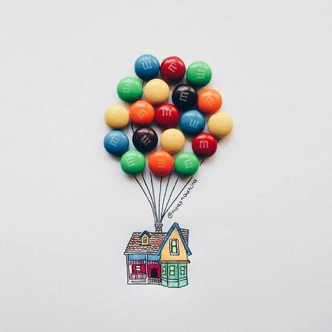 #Illustrator Uses #Childhood #Sweets And Snacks To Complete Her #Drawings. #art | Luby Art | Scoop.it