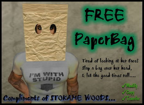 PaperBag Goes Over Head by Damon Okame | Teleport Hub - Second Life Freebies | Second Life Freebies | Scoop.it