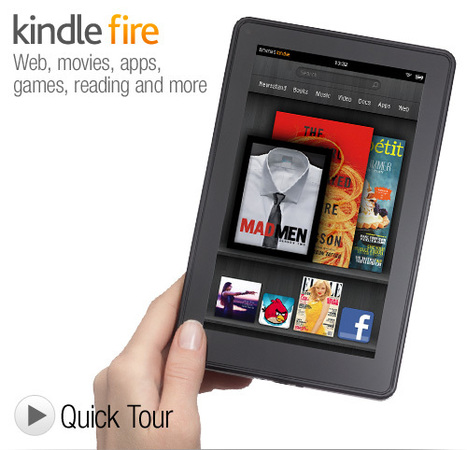 """Kindle Fire - Full Color Kindle with 7"""" Multi-Touch Display, Wi-Fi 