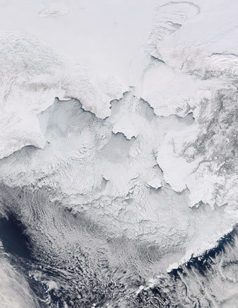 NASA MODIS Image of the Day: March 22, 2012 - The Bering Sea | SpaceRef - Your Space Reference | Remote Sensing News | Scoop.it