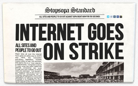 Strike Against Sopa! 18 Jan 2011 | The Information Professional | Scoop.it